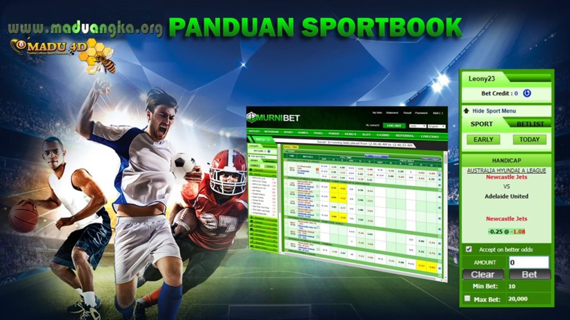 Panduan Bermain Sportsbook