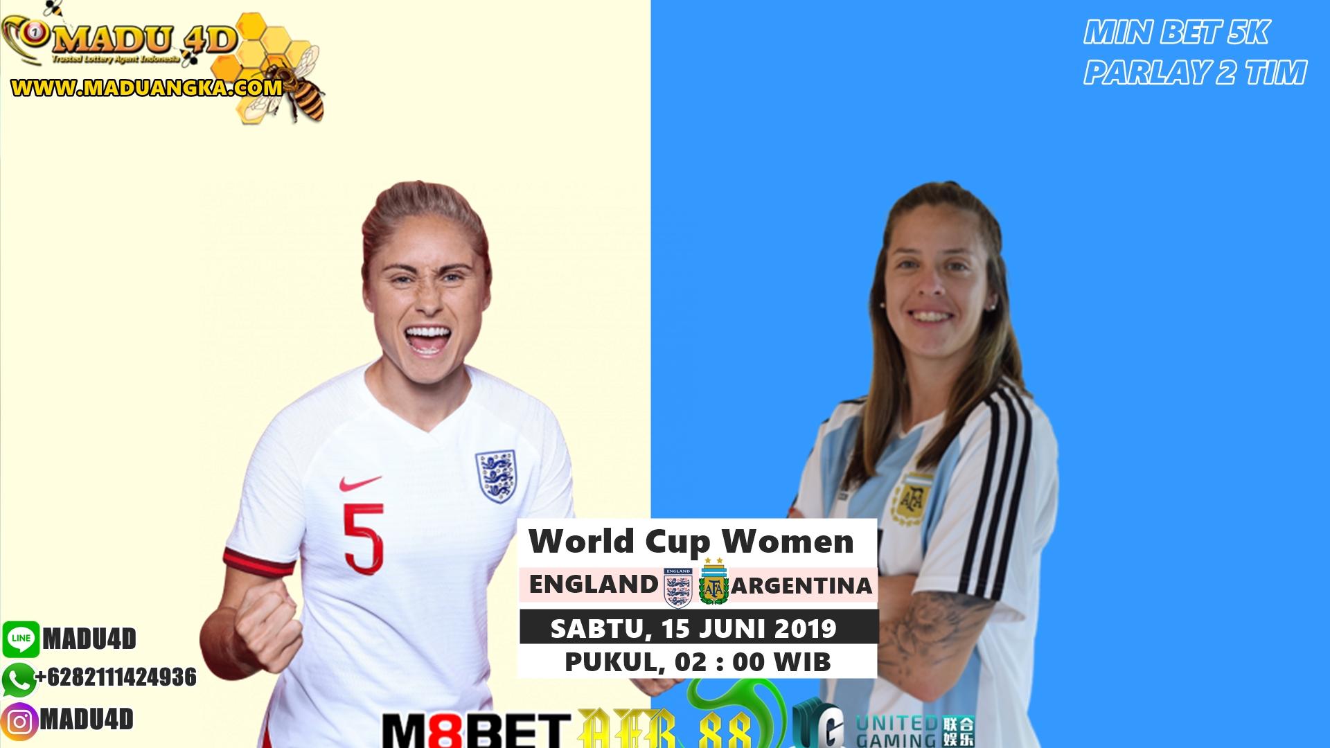 Prediksi Bola England vs Argentina 15 Juni 2019