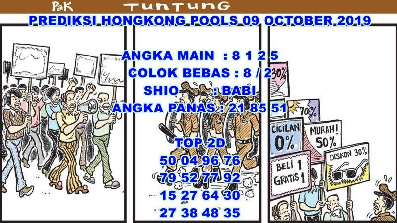 PREDIKSI HONGKONG POOLS 09 OCTOBER 2019