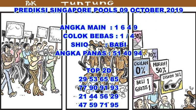 PREDIKSI SINGAPORE POOLS 09 OCTOBER 2019