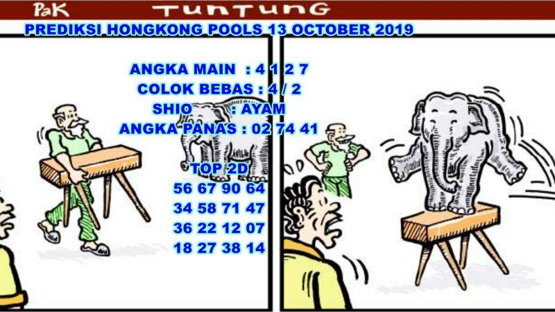 PREDIKSI HONGKONG POOLS 13 OCTOBER 2019