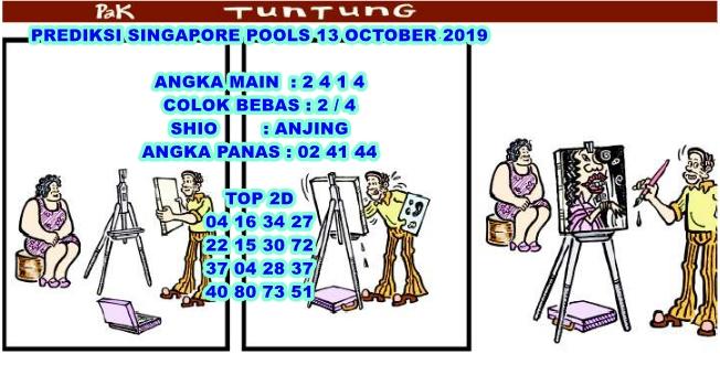 PREDIKSI SINGAPORE POOLS 13 OCTOBER 2019