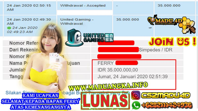 WD SPORTBOOK UNITED GAMING 35JT