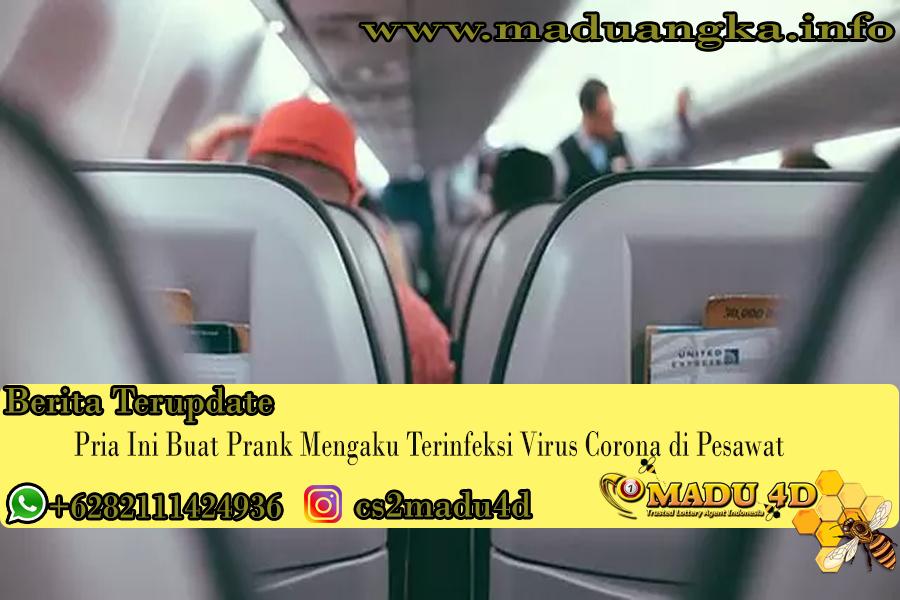 Pria Ini Buat Prank Mengaku Terinfeksi Virus Corona di Pesawat