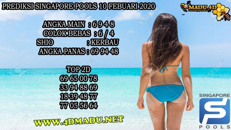 PREDIKSI SINGAPORE POOLS 10 FEBUARI 2020