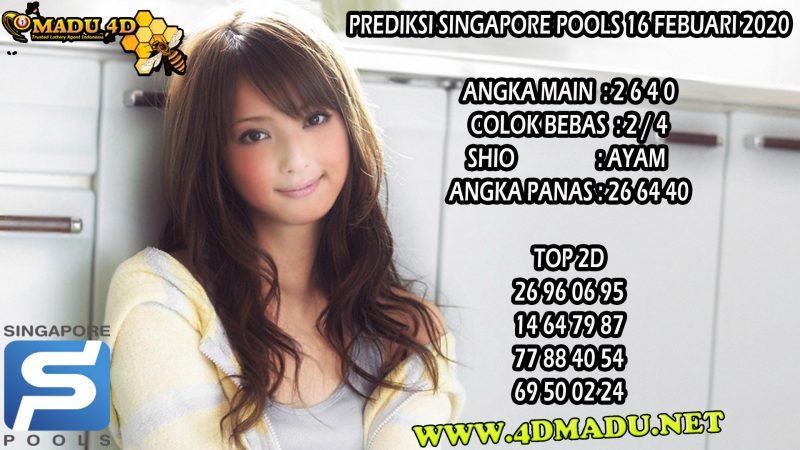 PREDIKSI SINGAPORE POOLS 16 FEBUARI 2020