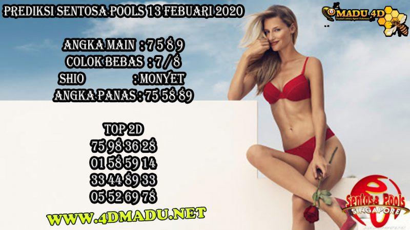 PREDIKSI SENTOSA POOLS 13 FEBUARI 2020
