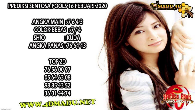 PREDIKSI SENTOSA POOLS 16 FEBUARI 2020