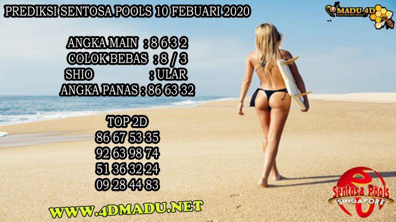 PREDIKSI SENTOSA POOLS 10 FEBUARI 2020