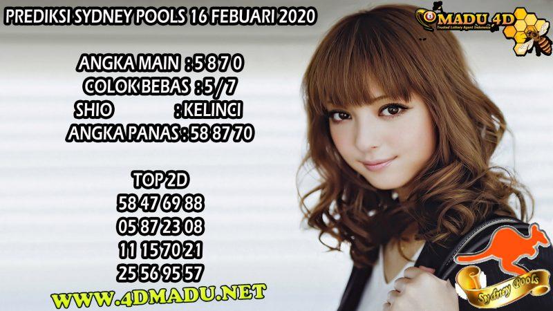 PREDIKSI SYDNEY POOLS 16 FEBUARI 2020