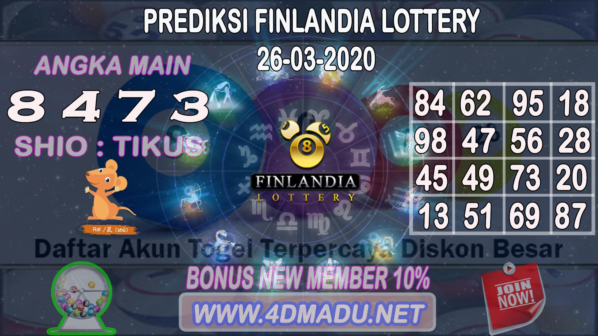 PREDIKSI FINLANDIA LOTTERY 26 MARET 2020