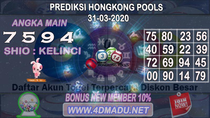 PREDIKSI HONGKONG POOLS 31 MARET 2020