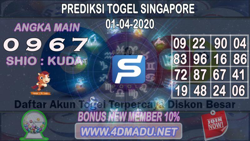 PREDIKSI SINGAPORE POOLS 01 APRIL 2020