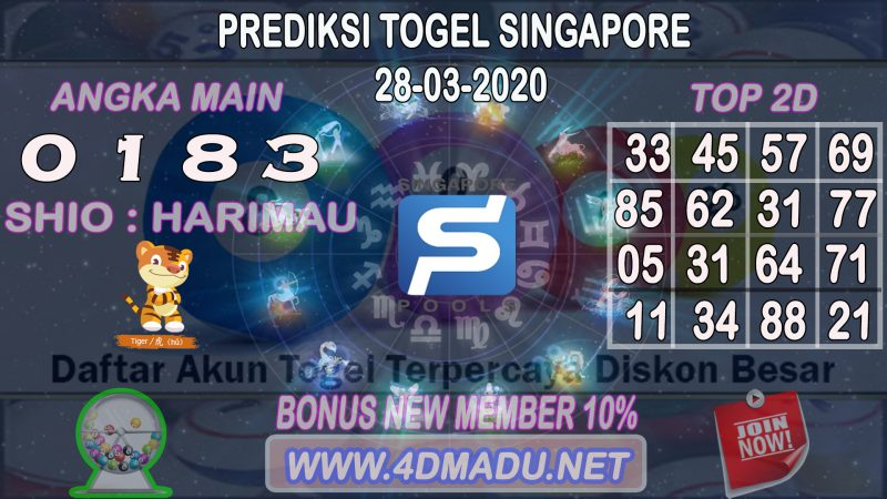 PREDIKSI SINGAPURA POOLS 28 MARET 2020