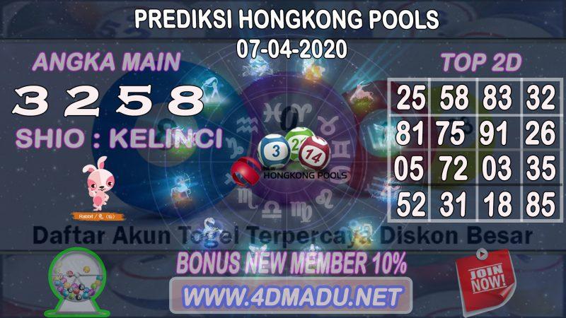 PREDIKSI HONGKONG POOLS 07 APRIL 2020