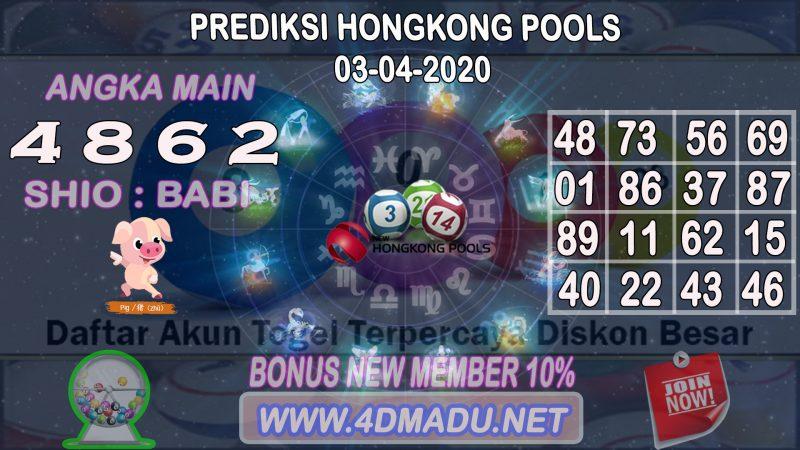 PREDIKSI HONGKONG POOLS 03 APRIL 2020