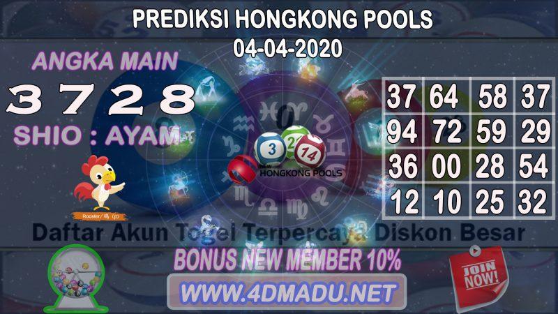 PREDIKSI HONGKONG POOLS 04 APRIL 2020
