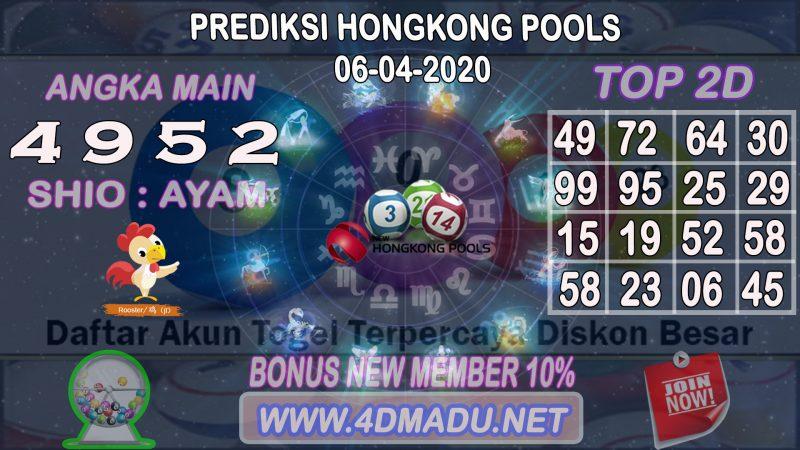 PREDIKSI HONGKONG POOLS 06 APRIL 2020