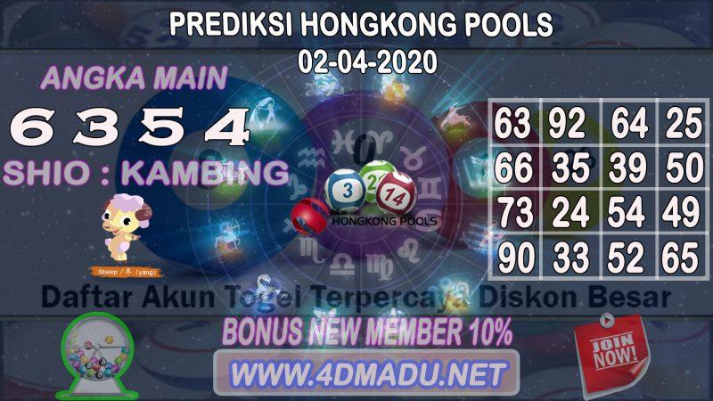 PREDIKSI HONGKONG POOLS 02 APRIL 2020