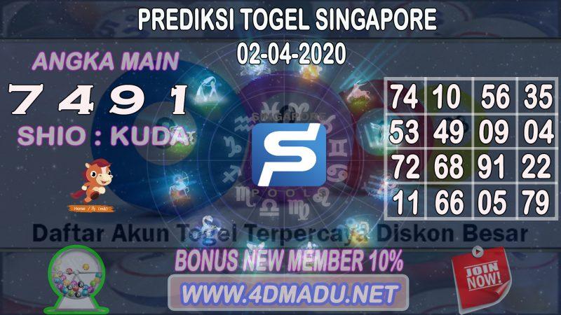 PREDIKSI SINGAPORE POOLS 02 APRIL 2020