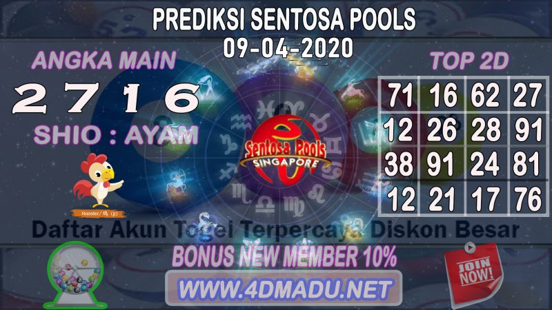 PREDIKSI SENTOSA POOLS 09 APRIL 2020
