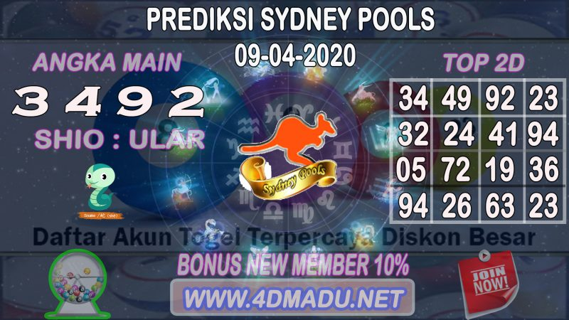 PREDIKSI SYDNEY POOLS 09 APRIL 2020