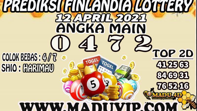 PREDIKSI FINLANDIA LOTTERY 12 APRIL 2021